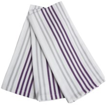 Cuisinart Striped Kitchen Towels - Set of 3 in Plum - Closeouts
