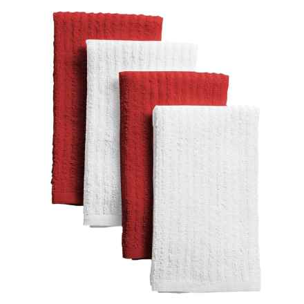 Cuisinart Terry Bar Mop Towels - 4-Pack in Red - Closeouts