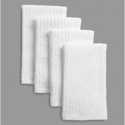 Cuisinart Terry Bar Mop Towels - 4-Pack in White