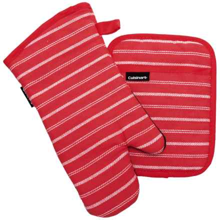 Cuisinart Yarn-Dye Neoprene Oven Mitt Set - 2-Piece in Salsa - Closeouts