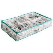 Cul-De-Sac 12-Slot Under the Bed Shoe Organizer in Zebra - Closeouts