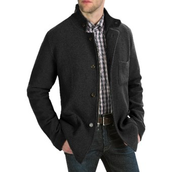 Cullen Boiled Wool Tailored Jacket (For Men) in Black