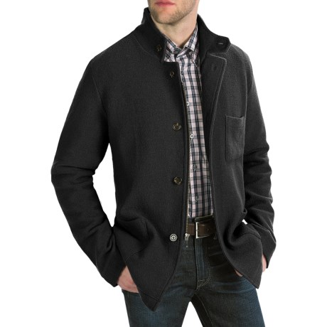 Cullen Boiled Wool Tailored Jacket (For Men) in Charcoal