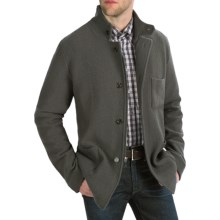 Cullen Boiled Wool Tailored Jacket (For Men) in Charcoal - Closeouts