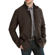 Cullen Boiled Wool Tailored Jacket (For Men) in Dark Brown - Closeouts