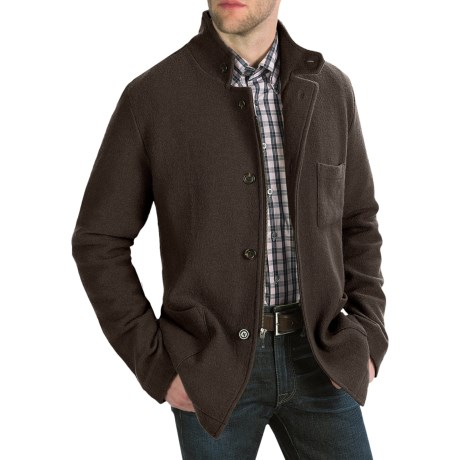 Cullen Boiled Wool Tailored Jacket (For Men) in Dark Brown
