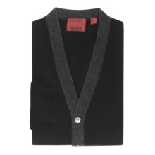 Cullen Cashmere Cardigan Sweater (For Men) in Black Combo - Closeouts