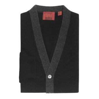 Cullen Cashmere Cardigan Sweater (For Men) in Black Combo