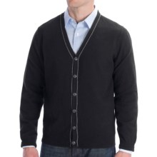 Cullen Cashmere Cardigan Sweater (For Men) in Black - Closeouts