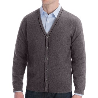 Cullen Cashmere Cardigan Sweater (For Men) in Derby Grey