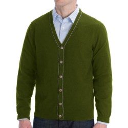 Cullen Cashmere Cardigan Sweater (For Men) in Juniper