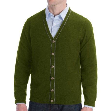 Cullen Cashmere Cardigan Sweater (For Men) in Navy
