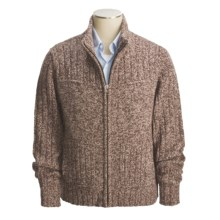 Cullen Chunky Donegal Tweed Zip Sweater (For Men) in Espresso Tweed - Closeouts