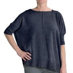 Cullen Cotton Blanket Sweater - Roll Neck (For Women) in Dark Wash