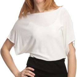 Cullen Dolman Color-Block Shirt - Short Sleeve (For Women) in White W/Black
