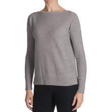 Cullen Hi-Lo Sweater - Cashmere, Boat Neck (For Women) in Fog - Closeouts