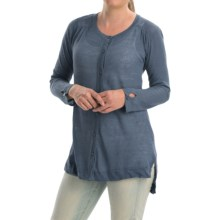 Cullen High-Low Tunic Sweater (For Women) in Denim - Closeouts