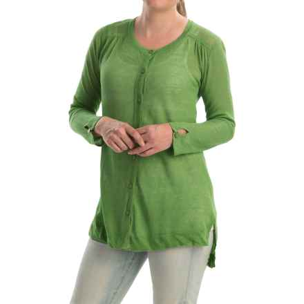 Cullen High-Low Tunic Sweater (For Women) in Grasshopper - Closeouts