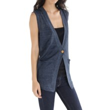 Cullen Linen Knit Vest (For Women) in Denim - Closeouts