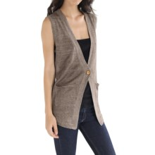 Cullen Linen Knit Vest (For Women) in Flax - Closeouts