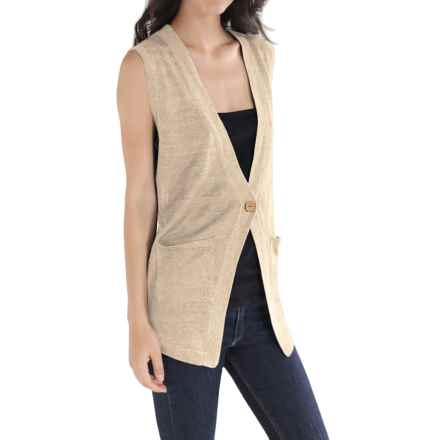 Cullen Linen Knit Vest (For Women) in Ivory - Closeouts