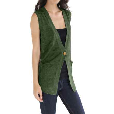 Cullen Linen Knit Vest (For Women) in Kale - Closeouts