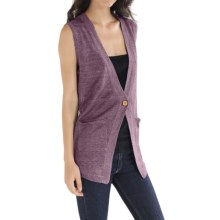 Cullen Linen Knit Vest (For Women) in Pansy - Closeouts
