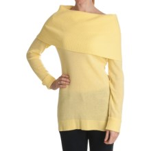 Cullen Over-the-Shoulder Cowl Neck Sweater - Cashmere (For Women) in Morning Sun - Closeouts