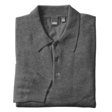 Cullen Polo Sweater - Cashmere (For Men) in Grey - Closeouts