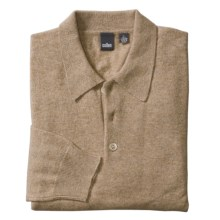 Cullen Polo Sweater - Cashmere (For Men) in Oatmeal - Closeouts