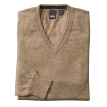 Cullen Solid V-Neck Sweater - Cashmere (For Men) in Oatmeal - Closeouts