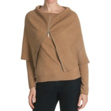 Cullen Superfine Wool-Cashmere Sweater - Zip Cowl Neck (For Women) in Caramel - Closeouts