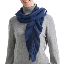 Cullen Twisty Pucker Scarf - Cashmere (For Women) in Altantic - Closeouts