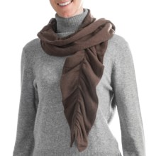 Cullen Twisty Pucker Scarf - Cashmere (For Women) in Bittersweet - Closeouts