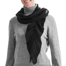 Cullen Twisty Pucker Scarf - Cashmere (For Women) in Black - Closeouts
