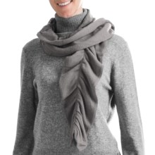 Cullen Twisty Pucker Scarf - Cashmere (For Women) in Fog - Closeouts