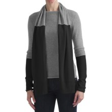 Cullen Two-Layer Sweater with Detachable Scarf - Cashmere (For Women) in Fog - Closeouts