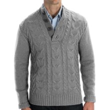 Cullen Wool Cable-Knit Sweater (For Men) in Grey Heather - Closeouts