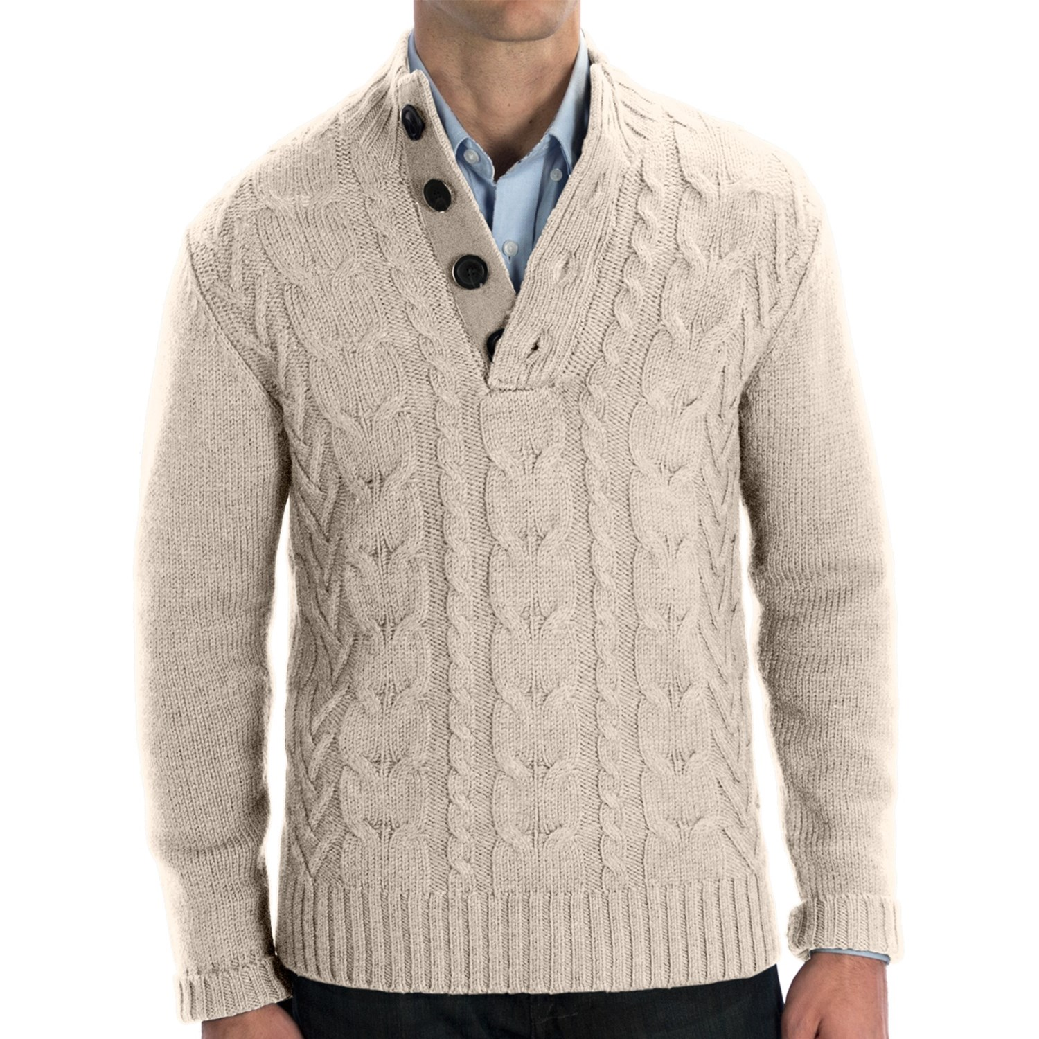 Free Mens Cable Knit Sweater Patterns : Man Cable Knit Sweater - Long Sweater Jacket
