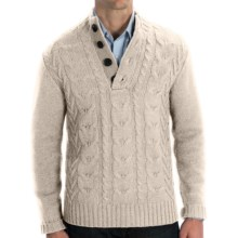 Cullen Wool Cable-Knit Sweater (For Men) in Plaster - Closeouts