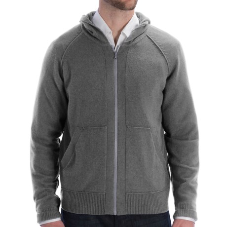 Cullen Zip Hoodie Sweatshirt - Cashmere (For Men) in Derby Grey
