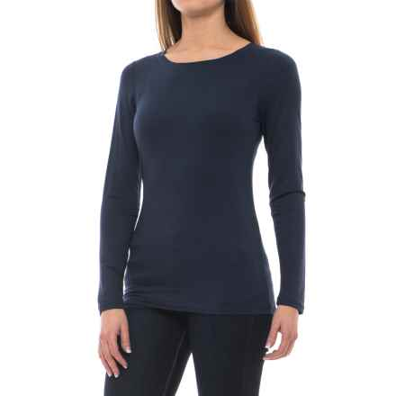 Cupio Basic Crew Neck Shirt - Long Sleeve (For Women) in Jazzy Blue - Closeouts