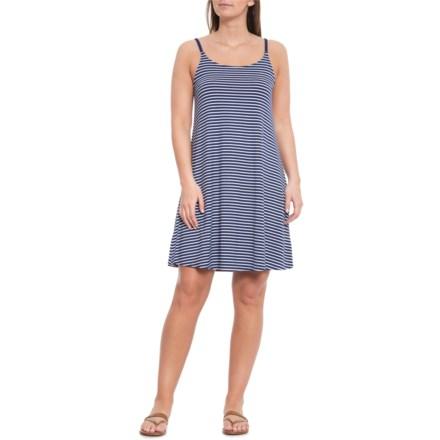9d6a4b0511 Cupio Blush High Sea Navy and White Stripe Tank Dress - Sleeveless (For  Women)