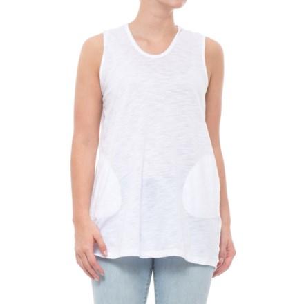7de8ea022d773c Cupio Blush Hooded Tunic Shirt - Sleeveless (For Women) in White - Closeouts