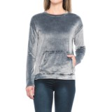Cupio Blush Mineral Washed Oversized Shirt - Long Sleeve (For Women)