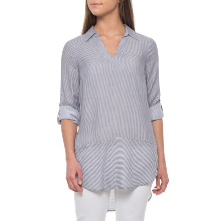 eb615a1d31a22f Cupio Blush Starry Night/White Stripe Tunic Shirt - Long Sleeve (For Women)