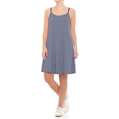 Cupio Blush Striped Tank Dress (For Women) in High Sea Navy/White Stripe