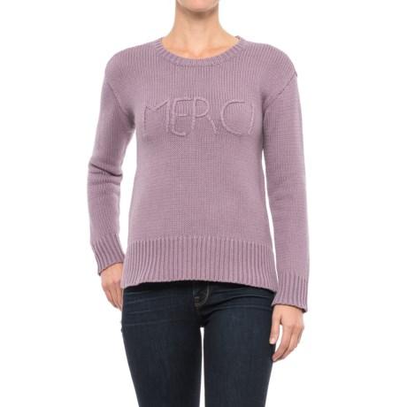 Cupio Blush Sweater - Crew Neck (For Women) in Sugared Plum Merci