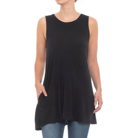 Cupio Blush Swing Tank Top (For Women) in Black
