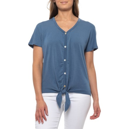 40bd56824cce7a Cupio Blush Tie-Front Button T-Shirt - Short Sleeve (For Women)